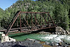 Bridge where the Durango-Silverton train crosses from the east side to the west side of the Animas River.