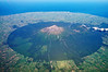 Mt Taranaki/Egmont (2518 metres) from the air, showing its almost perfectly circular National Park boundary