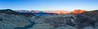 Panorama of sunrise at Zabriskie Point