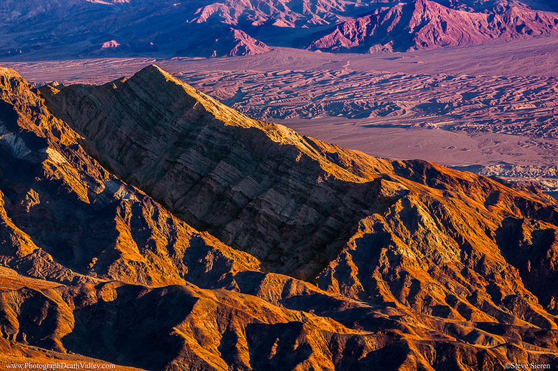 Tucki Mountain Ridgeline and Death Valley Buttes