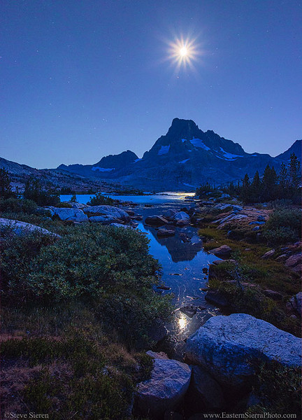 Thousand Island Lake Banner Peak Moonstar
