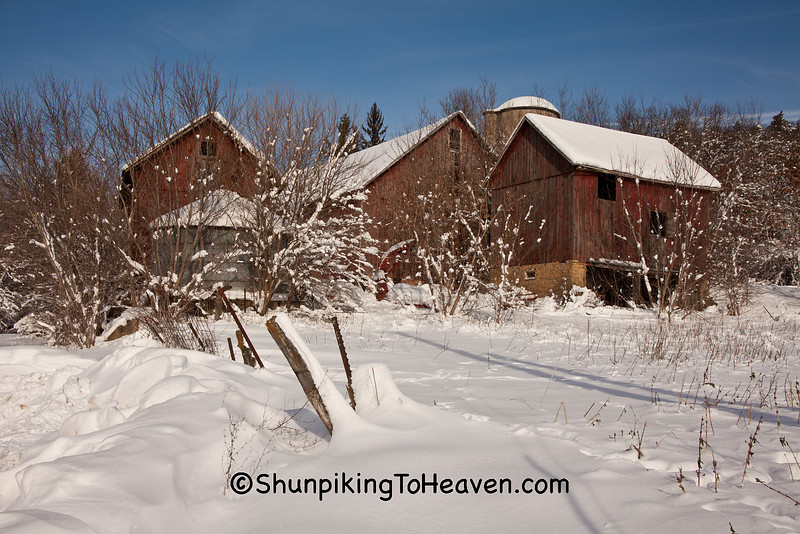 Winter Farm Scene, Sauk County, Wisconsin