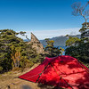 Campsite at Oblong Hill Lookout, Lake Hauroko.