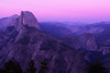 Half Dome, Nevada Falls, and Dusk. Yosemite National Park, California