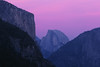 Dusk, Half Dome, and El Capitan. Yosemite National Park, California