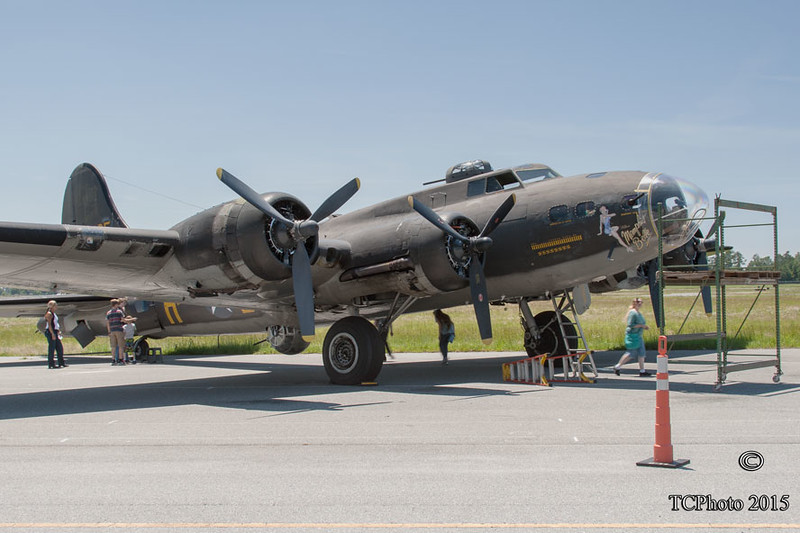 """This B-17 was used in the movie """"Memphis Belle"""".  It is still being flown."""
