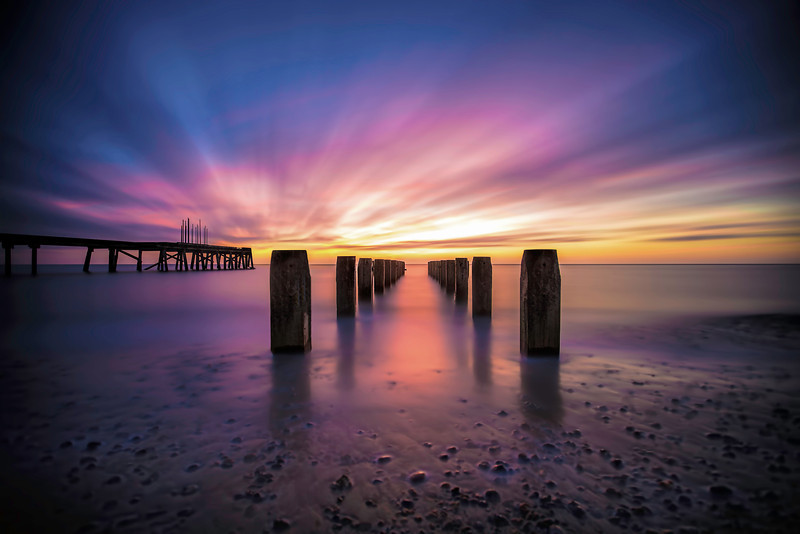 set the controls for the heart of the sun. #sunrisephotography on the beach in Norfolk. #hdrphotography blended with a 3 minute #longexposure using the Lee Big Stopper.