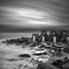 The Aliens have landed on the shore. #LongExposure of 90 seconds with the Lee #BigStopper, Aperture F11, ISO 100. Processed in Nik #SilverEex Pro 2. #ArtHakker.