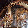The Altar of the Crucifixion in Church of the Holy Sepulchre.