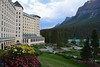 Jan's photo of the Fairmont Lake Louise Hotel. What a setting for our impulsive one night splurge.