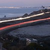 Ponto Beach and PCH with views to old Carlsbad, Oceanside and Oceanside Pier to the north. 2/17/2015