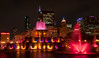 Red lights at Buckingham Fountain - Chicago