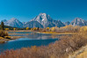 View of Mt. Moran and surrounding landscape Grand Teton National Park Wyoming © 2012
