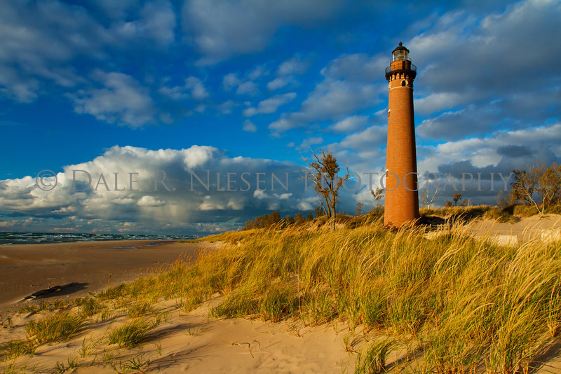 Little Sable Lighthouse at Silver Lake State Park and sand dunes near the town of Silver Lake, Michigan