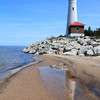 Crisp Point Lighthouse, Lake Superior north of Newberry, Michigan