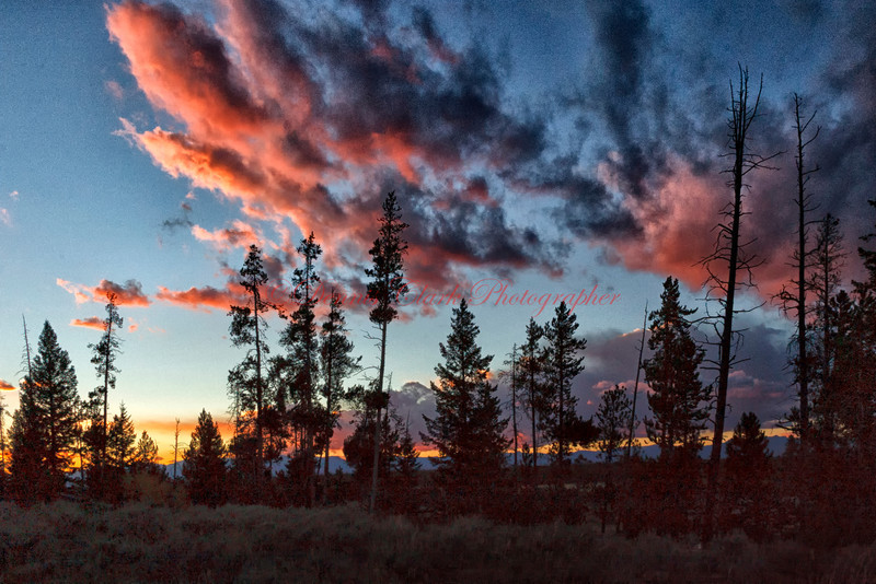 Sunset - Yellowstone NP, Wyoming