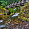 Wahclella Falls and Tanner Creek Trail Bridge. On the Columbia River Gorge Oregon. Very Pretty Place..