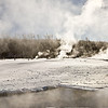 Geyser Basin Panorama Bisen;  Yellowstone in Winter