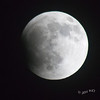 Lunar Eclipse, as earth's shadow begins to fall.....Not A Cloud To Be Seen!!!!