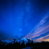 Milky Way over Rainier. Taken from Sunrise at 3:37am just after the moon set behind Rainier.
