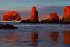 Red Light Baths The Haystacks of Bandon - Bandon Beach, Southern Oregon Coast,
