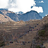 The ancient Inca ruin of the Sacred Valley Ollantaytambo, Cusco