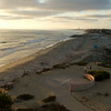 Ponto Beach at the golden hour during summer. Carlsbad CA
