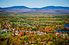 Rangeley aerial in the fall