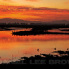 Sunset from Joise Island, Solano County, taken during the Benica Christmas Bird Count, 12-16-13.