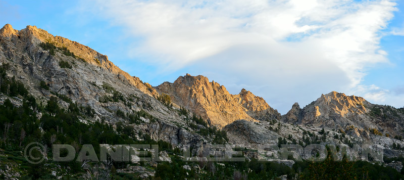 The Ruby Mountains, Elko County, Nevada, 8-18-14. This is a 2 image photomerge.