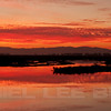 Sunset from Joise Island, Solano County, taken during the Benica Christmas Bird Count, 12-16-13. Two image photomerge.