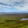 180+ degree panorama of the Quiraing, a collapsed ridge on the Isle of Skye.