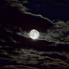 Supermoon, UK, Monday 24th June 2013. With cloud formations.