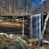 Big Laurel Falls in the Virgin Falls Natural Area, Tennessee