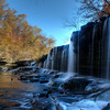 Water Falls at the Old Stone Fort State Park in Tennessee