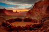 Sunset From False Kiva - Canyonlands National Park, Utah