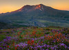 First Hints Of Light On The Crater - Mount St Helens Volcanic Monument,  Washington State