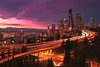Sunset Storm Over Seattle - Jose Rizal Park, Seattle, Washington