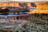 Gunsite Sunset<br /> <br /> Overlooking Lake Powell, the sun is slowly setting just licking the tips to Gunsite Mesa<br /> Alstrom Point, Lake Powell, Utah, USA