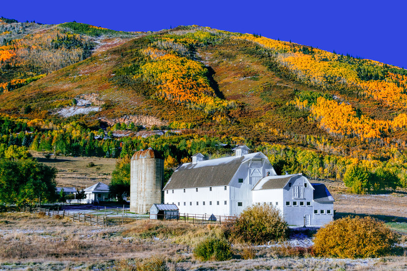 Park City Barn and fall colors