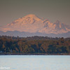 Mount Baker, Washington State, USA. Early evening sunset, looking from the pier in White Rock, BC, Canada!