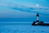 MNWN-13-54: Winter full moon over Duluth Harbor
