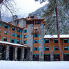 """The Ahwahnee Hotel in Winter"" I love nothing better than being in Yosemite in the winter! The Ahwahnee Hotel just looks amazing with the rock face backdrop behind. This is from a few years ago and can't wait to get back there again for similar conditions! Have any stories to share from the Ahwahnee or any other Yosemite favorite location?! Please like or share it with friends who also might enjoy!   Copyright John Harrison Photography— at Yosemite National Park."