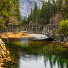 Ahwahnee Stone Bridge in Yosemite National Park Panorama