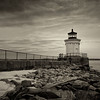 Bug Light - Portland, Maine, B&W