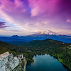 Castle Lake and Mt. Shasta Sunset, California