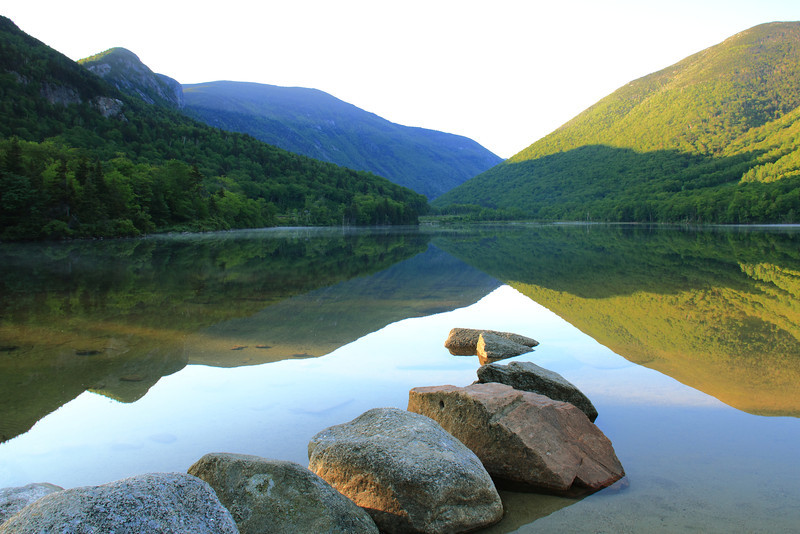 Morning Reflections at Echo Lake, Franconia Notch NH