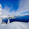 Cloaked in White, Crater Lake, Oregon