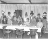 Depot Darlings, November 1969<br /> <br /> The Berrien Press, page 3<br /> photo caption:<br /> DEPOT DARLINGS -- Meeting at Ivy Restaurant last week were the Depot Darlings, wives of Southern Railway employees in the area.  Shown with their crazy hats, were:  Front, Lorayne Fort, Kathy Gelmini, Doris Logan, Kathleen Smith, Ruth Farmer, Mrs. Leon Pippin, Jean Daniels; back row, Helen Floyd, Myrtice James, Judy Fox, Anne Williamson, Mynelle McGinty, Betty Cone, Evelyn Collins and Ann Hughes.