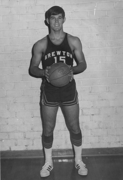 Raymond Tucker while playing basketball for Brewton-Parker College.  A graduate of both BHS and Brewton-Parker, he is a member of Brewton-Parker's sports Hall of Fame.